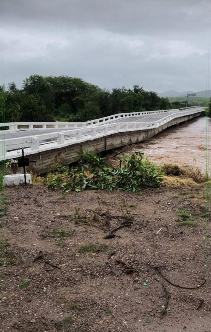 $! El Quelite bridge collapses on the free highway from Mazatlán to Culiacán