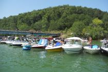 Boats Tied Up Norris Lake