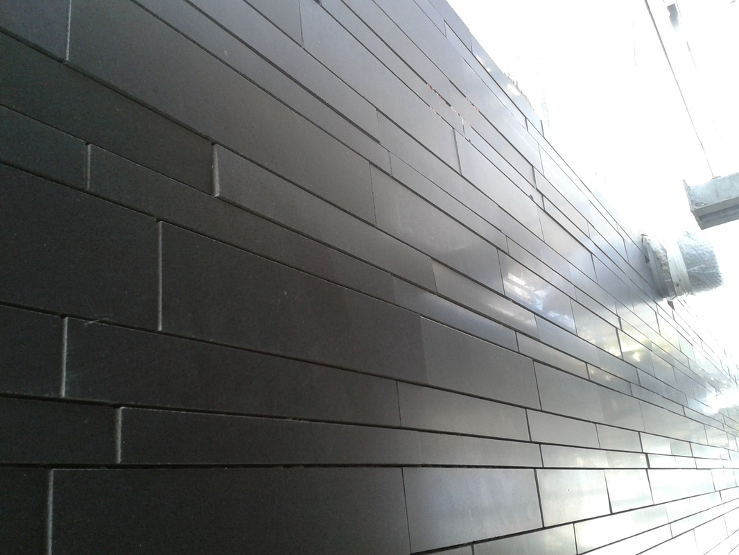 Lynia Stone Cladding Wall Tiles in Basalt Quartz and