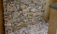 Natural Stone Showers | Stacked Stone Veneer Panels for ...