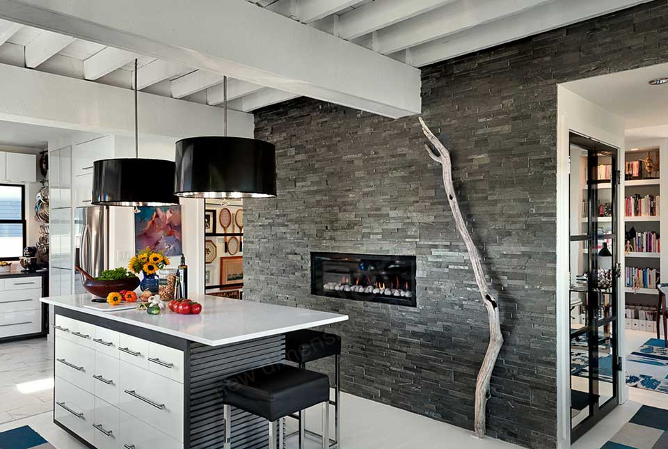 wall unit designs for small living room ideas floating shelves in charcoal stacked stone veneer | rock panels walls by ...