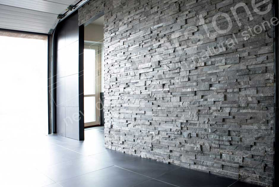 Buy 3d Faux Rock Stone Wallpaper Charcoal Stacked Stone Veneer Rock Panels For Walls By