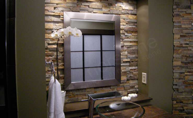 stacked stone kitchen backsplash rustic tables natural tiles for kitchens and bathrooms norstone bathroom tile used on hgtv television show bathtastic