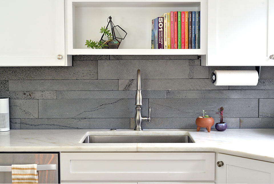 large format tile in small spaces