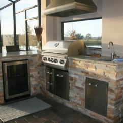 Outdoor Kitchens Orlando Sears Kitchen Remodeling Aztec Stone Veneer For In Florida Norstone Stacked Panels Used On The Base Of An With