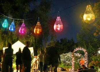 Assortiment De Lampes Solaires Colores Suspendre Nortene