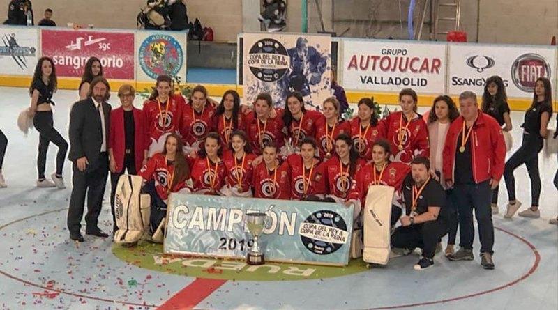 El equipo femenino Kamikazes de hockey  campeón de la Copa de la Reina 2019