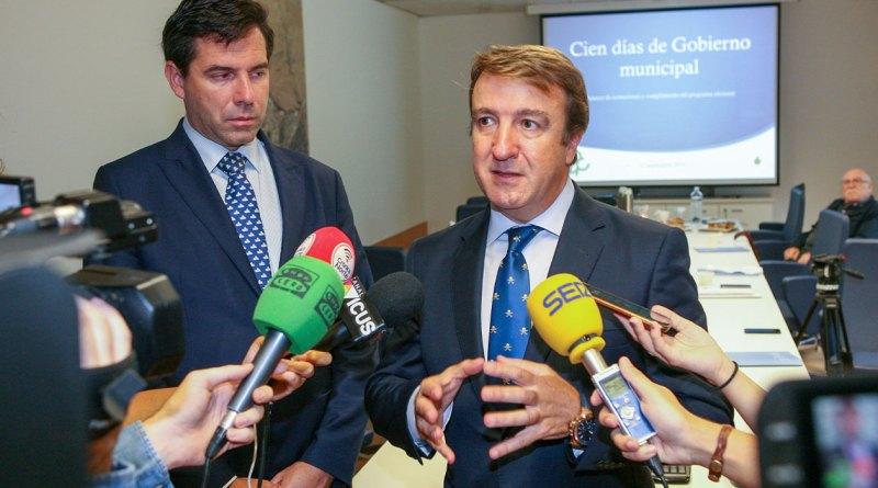 El alcalde, Jesús Moreno, valora los primeros cien días de gobierno de la legislatura
