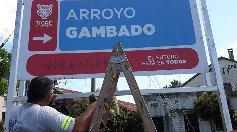 Tigre instala nueva señalización en ríos y arroyos del Delta