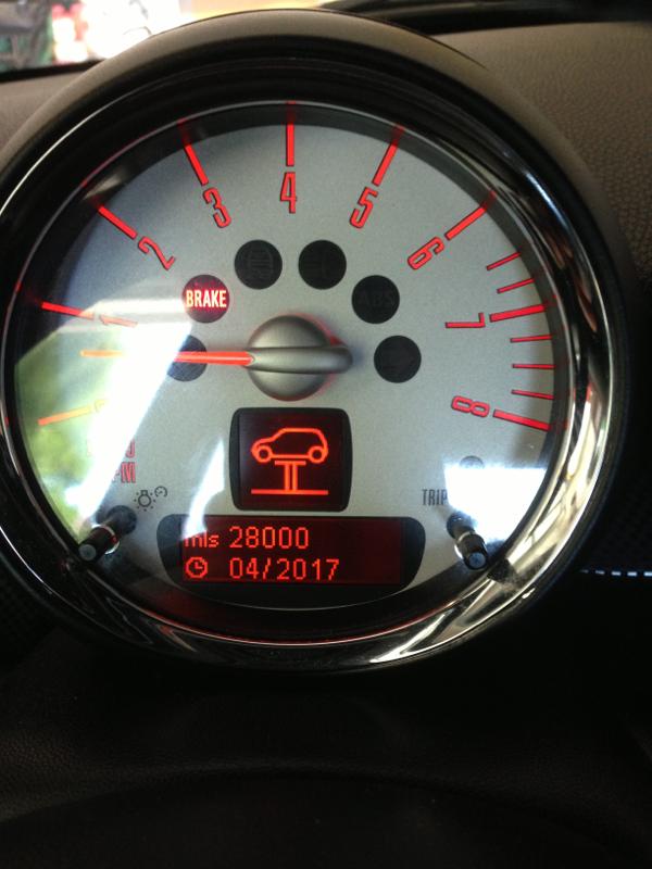 Mini on Lift warning symbol meaning  North American Motoring
