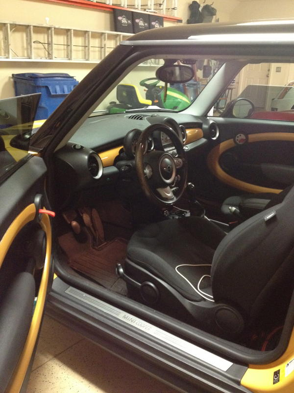Custom Mellow Yellow painted interior trim  North American Motoring