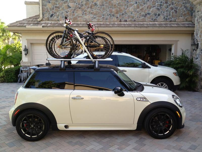mini cooper bicycle roof rack