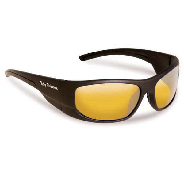 Cape Horn Sunglasses 7738NBY - Black Yellow Frame, Amber Lenses