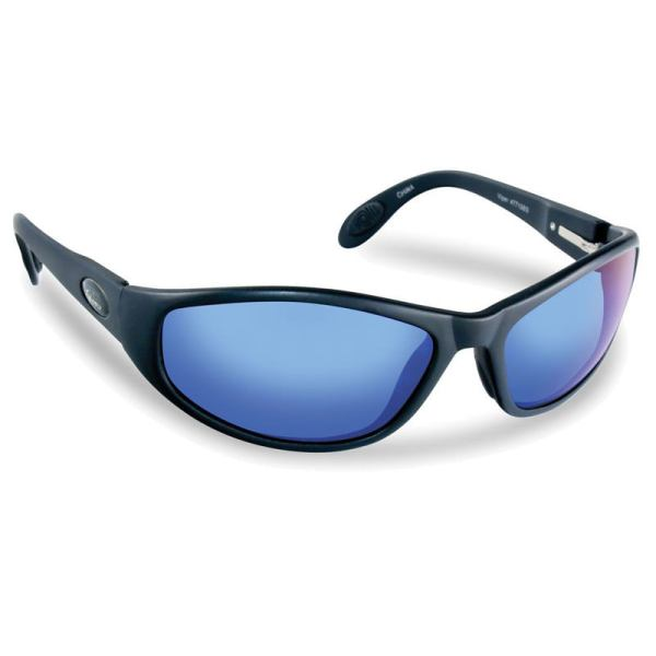 Viper Sunglasses 7715BS - Black Frame, Smoke (Blue Mirror) Lenses