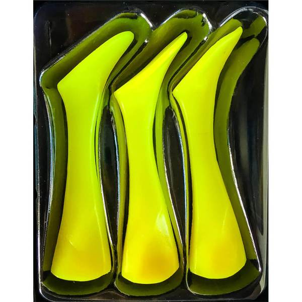 Headbanger Shad Replacement Tails - Fluo Yellow Color