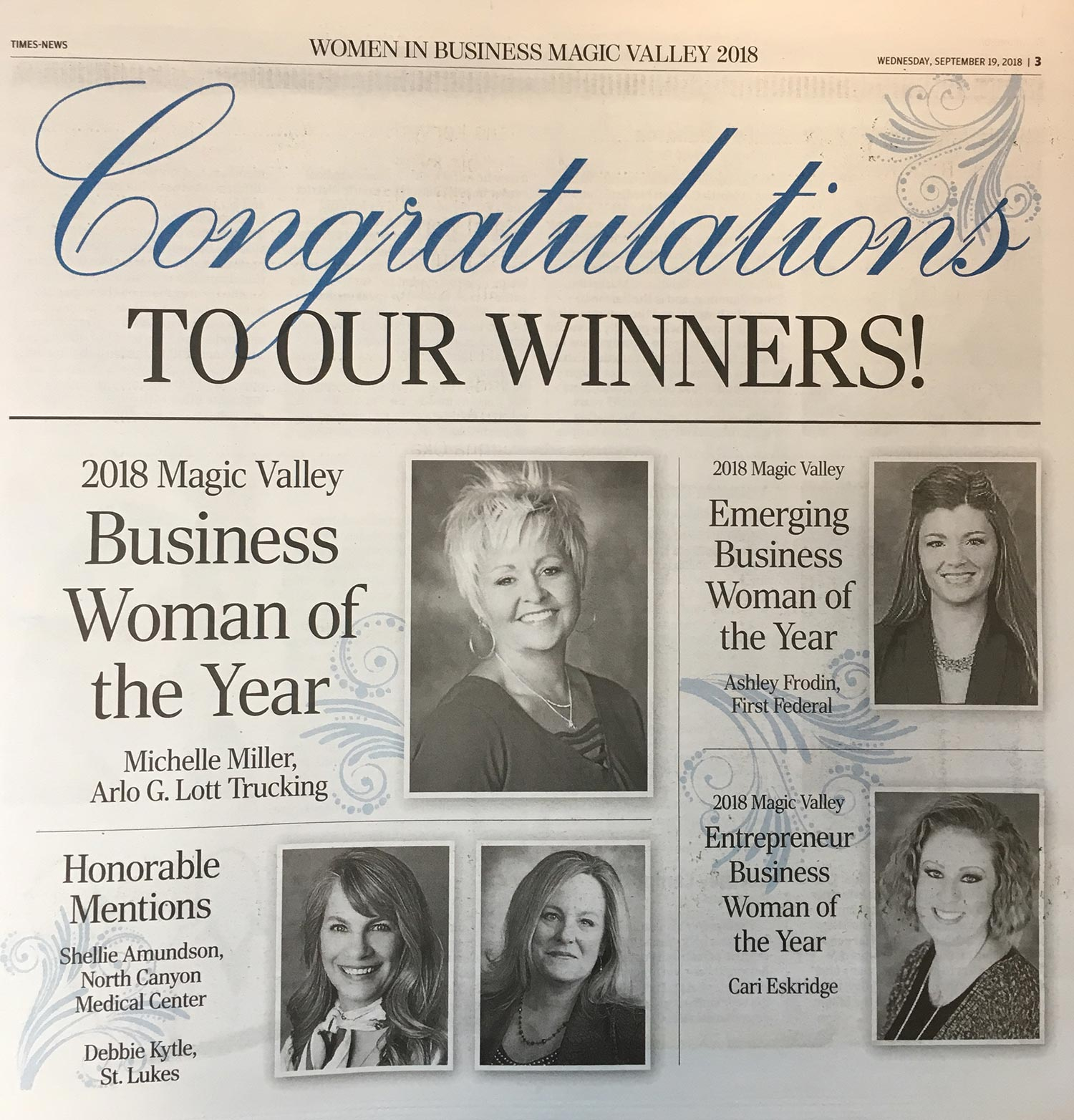Magic Valley Women in Business Winners Announced