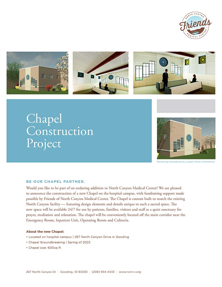 NCMC Chapel Construction Flyer
