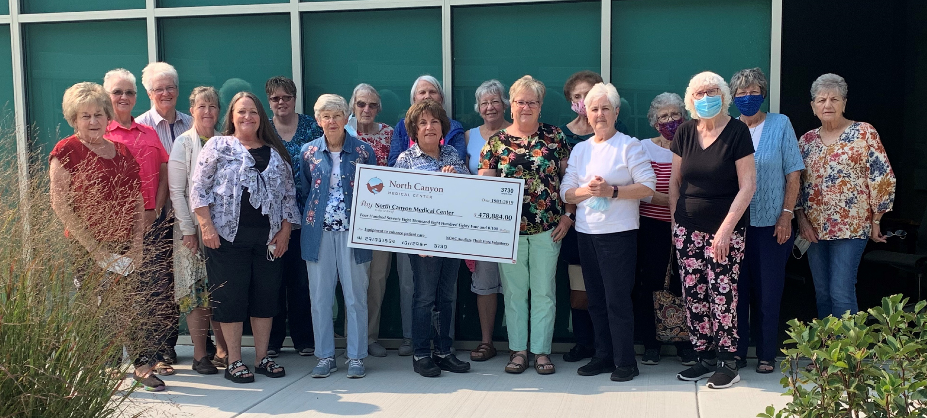 Auxiliary members with donation check