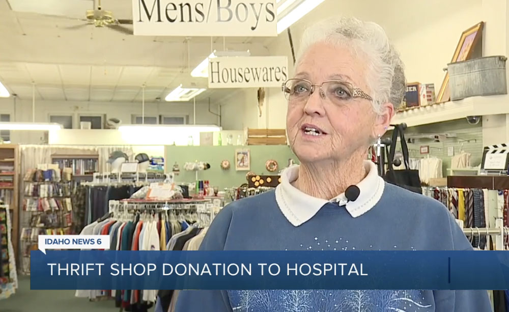 North Canyon Auxiliary Thrift Store donates money for construction of Chapel