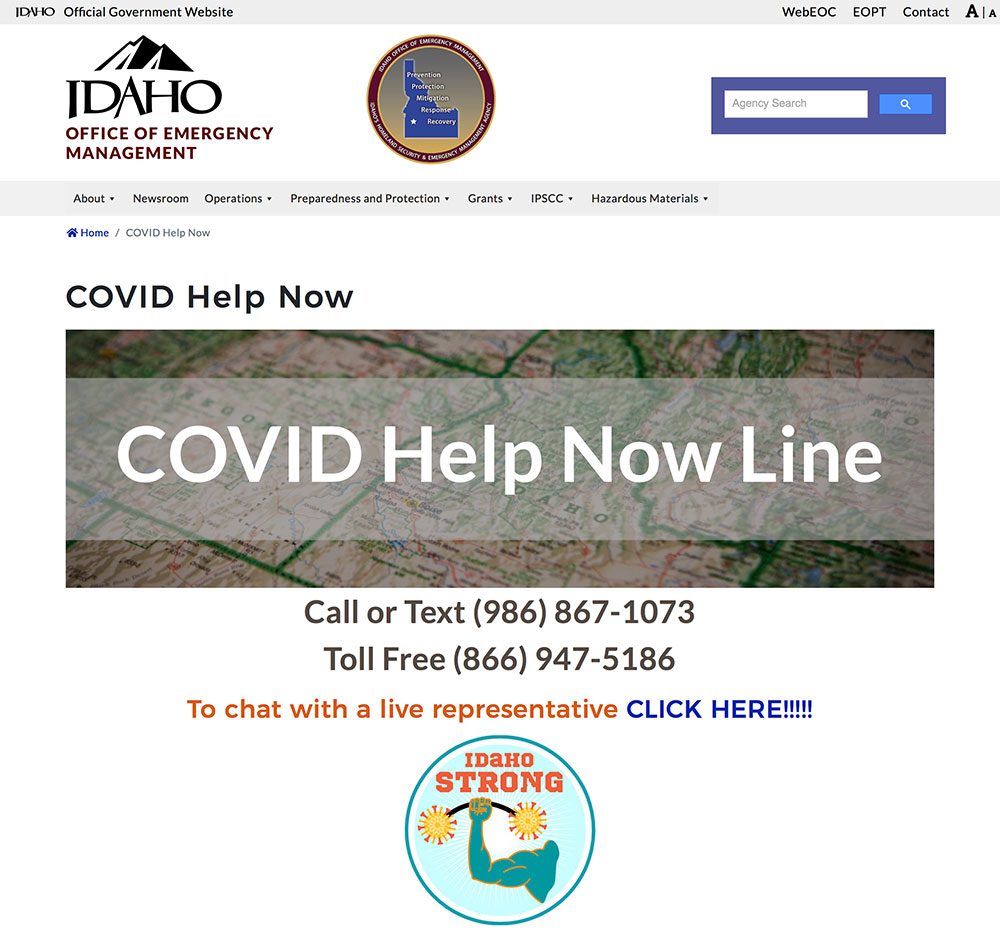 COVID Help Now Line