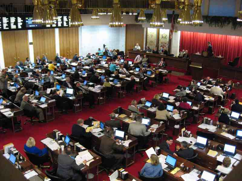 The NC House of Representatives met late into the evening last night, debating the budget bill.