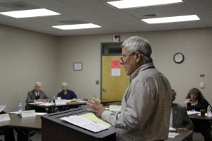 Former Western Highlands CEO Arthur Carder Jr. was fired after his board learned the agency was losing half a million dollars a month. Carder is shown here addressing his board earlier this year. Photo credit, Lydia Wilson