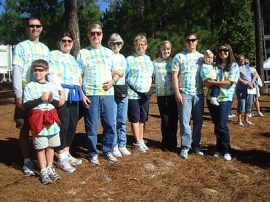 The McCormick family at the 2010 Alzheimer's NC walk. Photo courtesy the McCormick family.