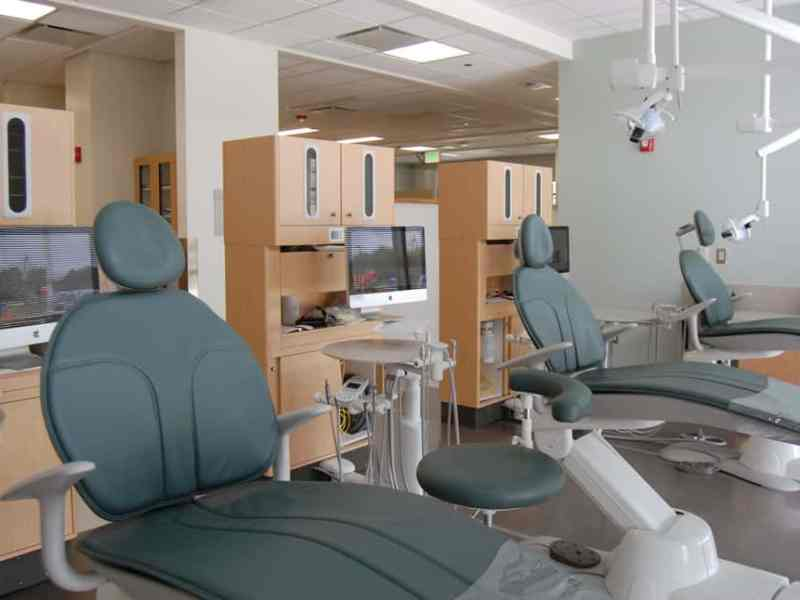 Treatment chairs at the new ECU affiliated dental clinic based at Roanoke Chowan Community Health Center