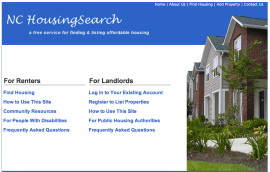 NC Housing Search website image