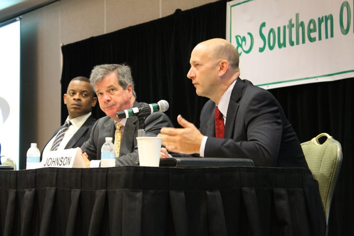 Mayor Anthony Foxx of Charlotte, Mayor Karl Dean of Nashville and Mayor Chip Johnson