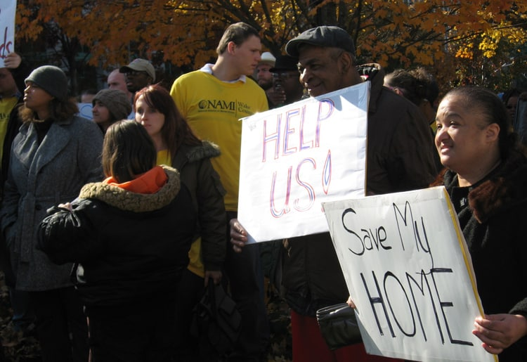 Dozens gathered in front of the legislature Wednesday to ask lawmakers to maintain funding for group homes for people wtih mental health disabilities.