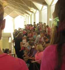 Protesters filled the Senate gallery Wednesday morning to listen to lawmakers debate sweeping abortion changes Wednesday morning. Photo credit: Rose Hoban