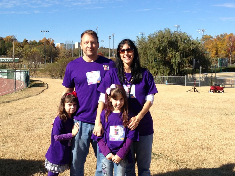 Teri and family at the Fall Stroll for Epilepsy 2013. Photo credit: Laura Sharpe
