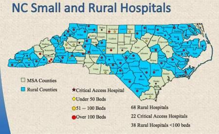 Map courtesy NC Hospital Association