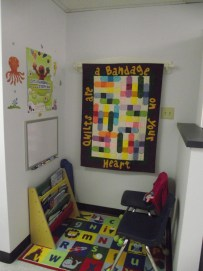 Children have a space to play in while they wait in the Sylvan Health Center.