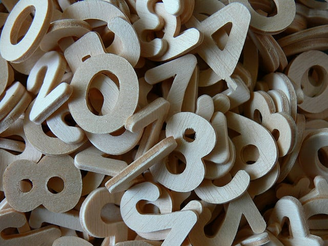 Numbers image courtesy Lainey Powell, flickr creative commons