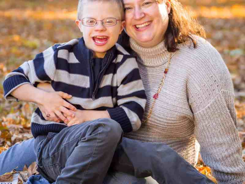 Kathryn Lariviere and her son Cameron.