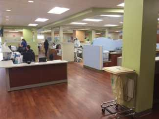The layout of the new Anson Hospital emphasizes communication, patient flow