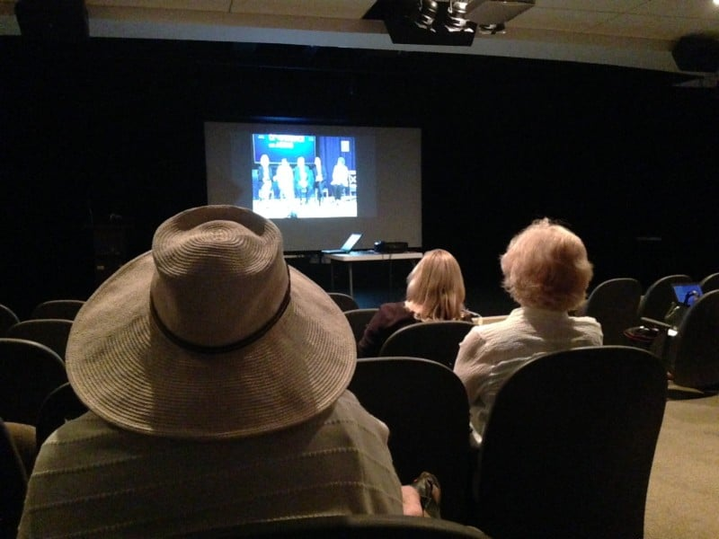 About 15 people attended the conference presentation at Chapel Hill's Seymour Center, another 15 joined a watch party at the Hillsborough Senior Center.