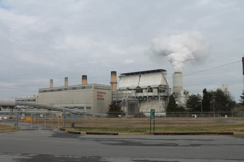 Marshall Steam Station, a coal-fired power plant in Catawba County, NC. EPA's climate plan could force the closure of coal plants across the U.S. Photo courtesy Wikimedia Commons