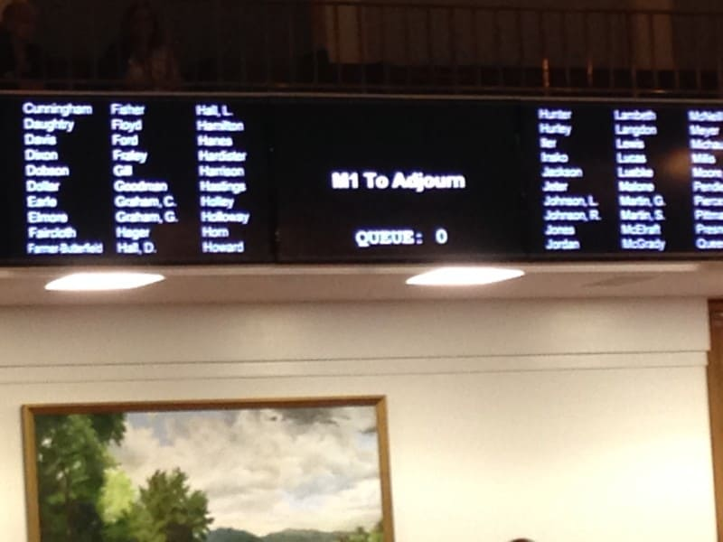 The NC General Assembly ended it's 2015 legislative session at 4:20 a.m. Wednesday morning.