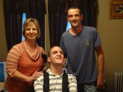 Bradley Benge with his parents, Monica and Eddie. Photo credit: Taylor Sisk