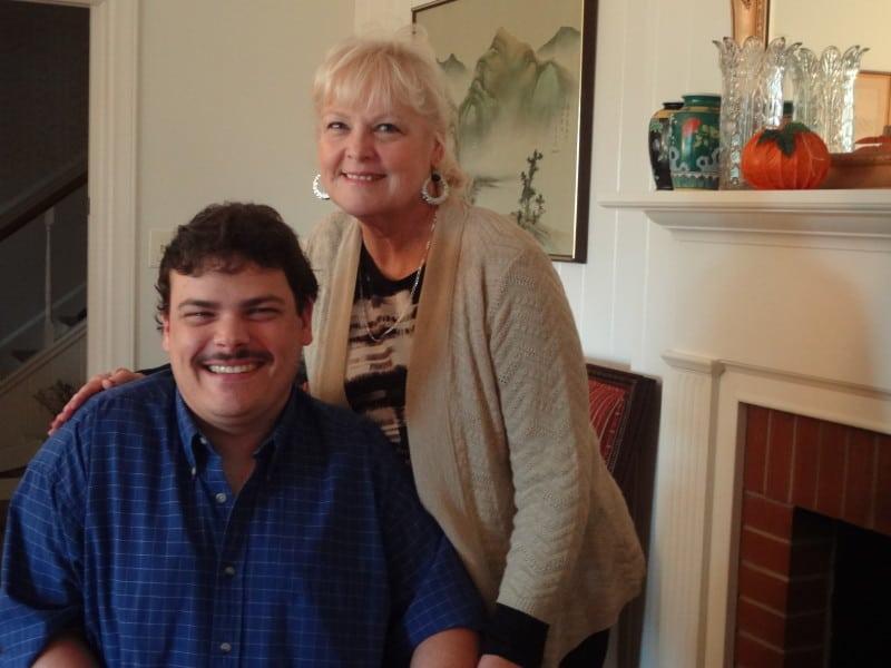 Dan Murphy and his mom, Vickie. Photo credit: Taylor Sisk