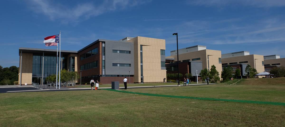 Panorama of the new Cherry Hospital in Goldsboro.