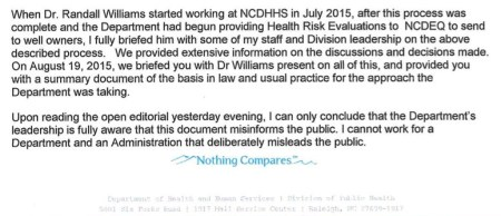 Excerpt from Davies' resignation letter.