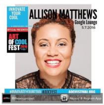 "UNC Chapel Hill researcher Allison Mathews spoke about ending HIV this spring at Durham's ""Art of Cool Fest."""