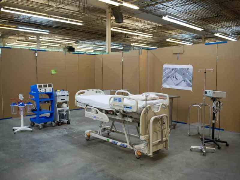 Staff members went through the step-by-step process of how they would take care of patients to get a sense of the layout.