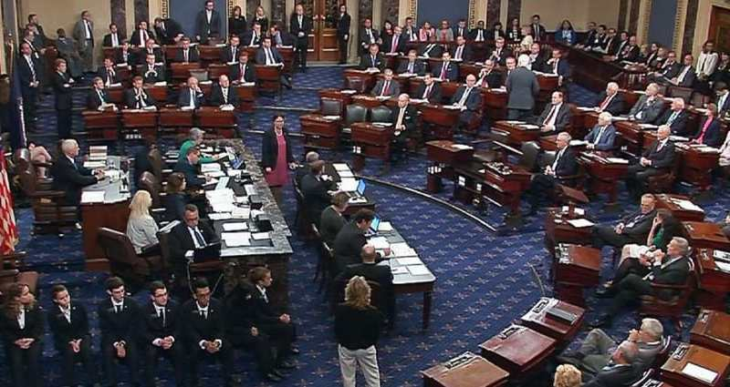 shows the senate floor on July 25, 2017