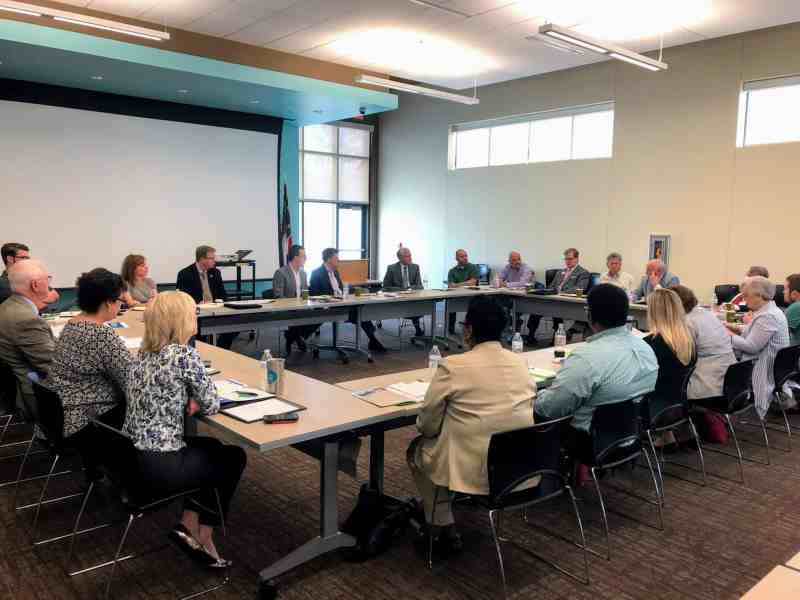 broadband access being discussed at a rural access meeting in Harnett County