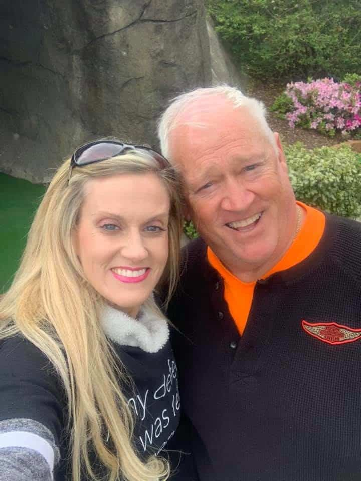 Lupus sufferer Barbi Manchester with her dad, Randy Manchester, who is mailing lupus medicine to his daughter. Photo credit: Contributed by Barbi Manchester